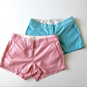 A set of two J Crew Factory pastel shorts
